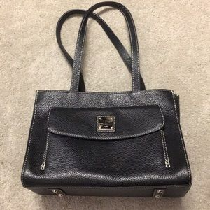 Dooney & Bourke 1975•black pebbled leather• 8.5x12